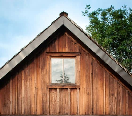 gabled roof wooden house 1